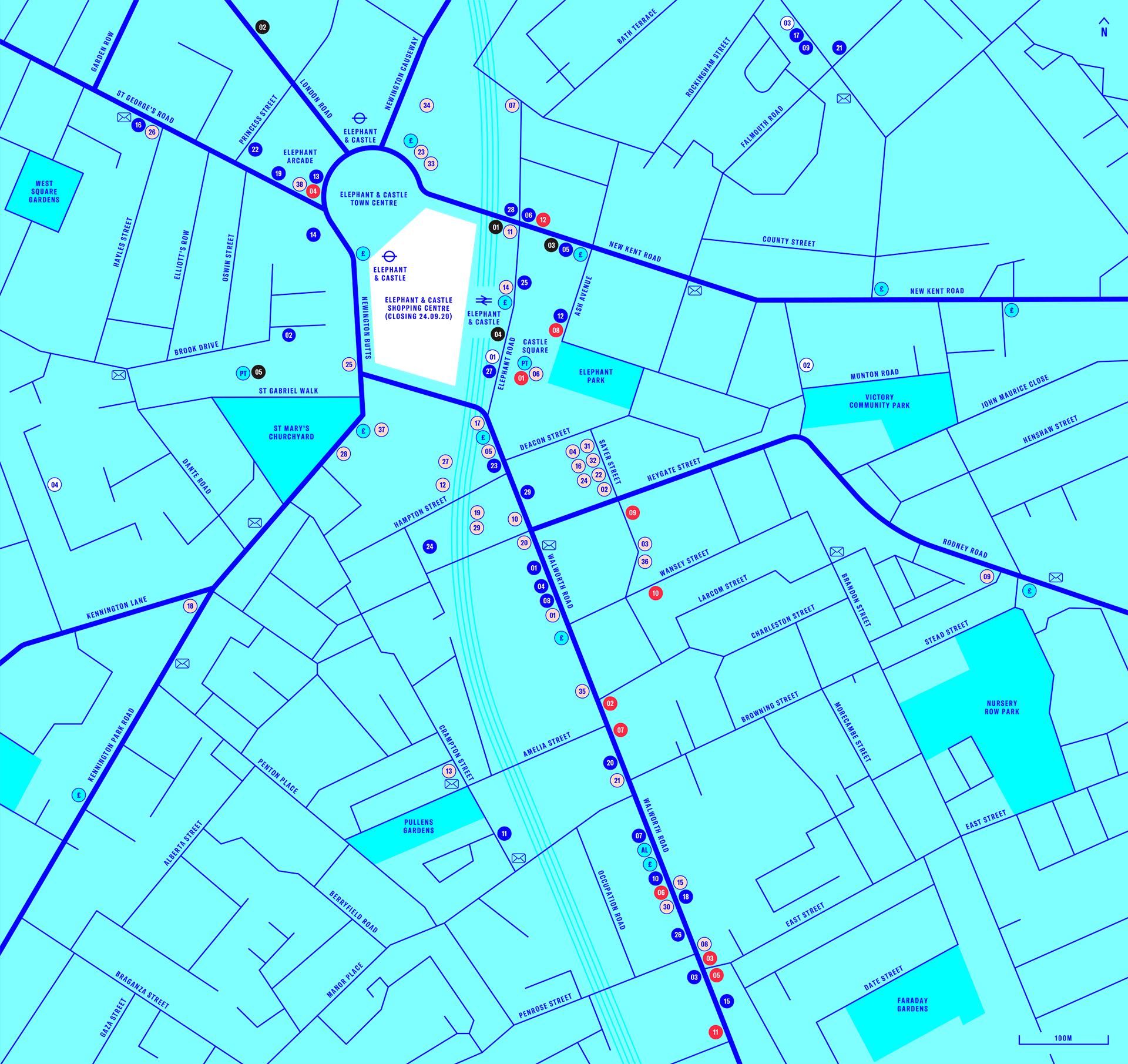 Elephant & Castle re-development map